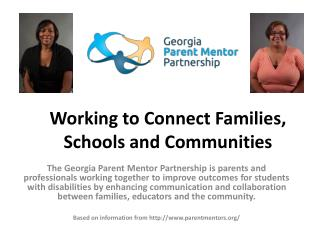 Working to Connect Families, Schools and Communities