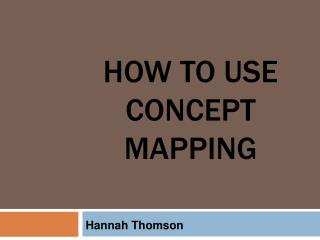 How To Use Concept Mapping