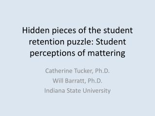 Hidden pieces of the student retention puzzle: Student perceptions of  mattering