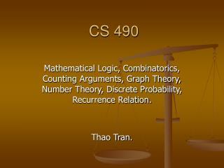 CS 490
