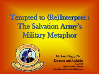 Tempted to (Re)Interpret : The Salvation Army's Military Metaphor