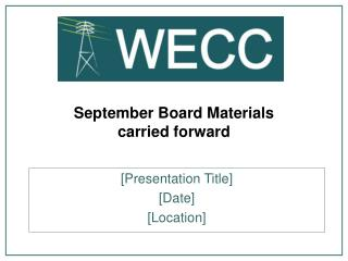 September Board Materials carried forward