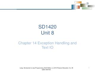 SD1420 Unit 8