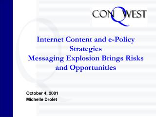 Internet Content and e-Policy Strategies