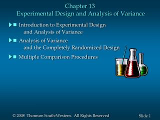 Chapter 13  Experimental Design and Analysis of Variance