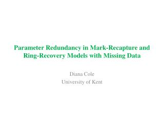 Parameter Redundancy in Mark-Recapture and Ring-Recovery Models with Missing Data