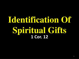 Identification Of Spiritual Gifts