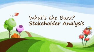 What's the Buzz? Stakeholder Analysis