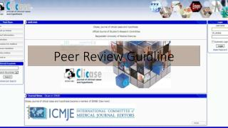 Peer Review  G uidline