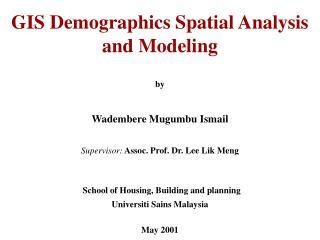 GIS Demographics Spatial Analysis and Modeling