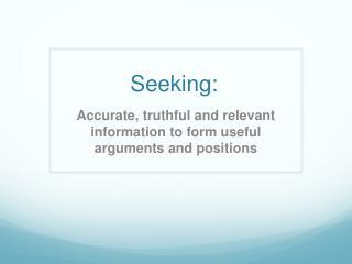 Seeking: