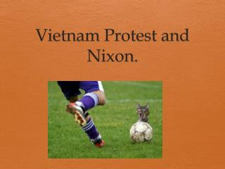 Vietnam Protest and Nixon.