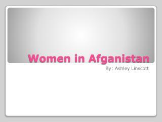 Women in Afganistan