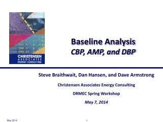 Baseline Analysis CBP, AMP, and DBP