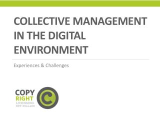 Collective Management in the digital environment
