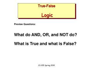 True-False Logic