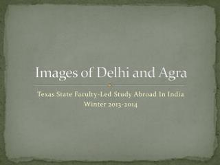 Images of Delhi and Agra