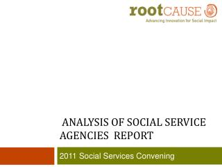 ANALYSIS OF SOCIAL SERVICE AGENCIES  Report