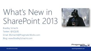 What�s New in SharePoint 2013