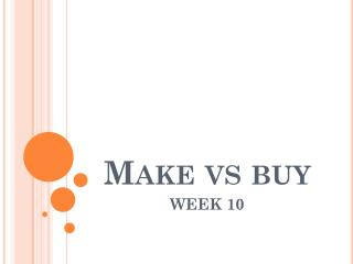 Make  vs  buy