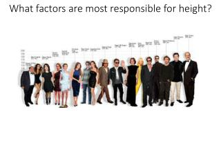 What factors are most responsible for height?