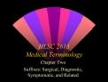 HLSC 2613  Medical Terminology