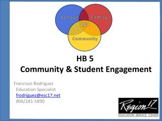 HB 5  Community & Student Engagement