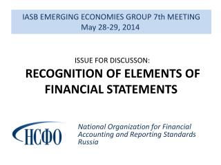 IASB EMERGING ECONOMIES GROUP 7th MEETING May 28-29,  2014