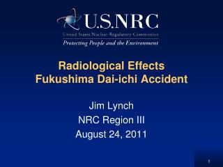 Radiological Effects  Fukushima Dai-ichi Accident
