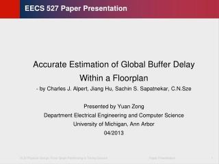 EECS 527 Paper Presentation
