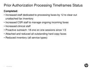 Prior Authorization Processing Timeframes Status