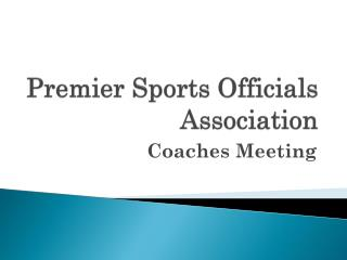 Premier Sports Officials Association