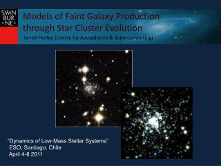 Models of Faint Galaxy Production  through Star Cluster Evolution