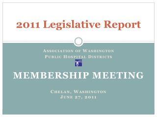 2011 Legislative Report