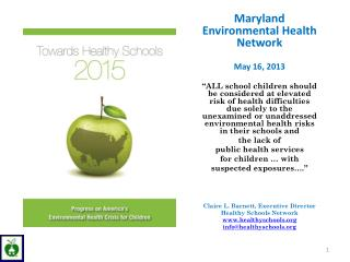 Maryland Environmental Health Network   May 16, 2013