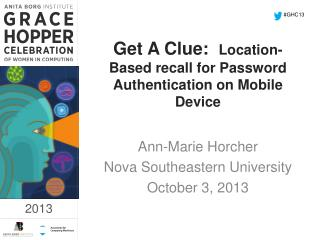 Get A Clue:   Location-Based recall for Password Authentication on Mobile Device