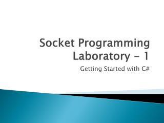 Socket Programming Laboratory - 1