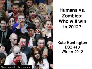 Humans vs. Zombies:  Who will win  in 2012?