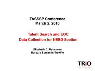 TASSSP Conference March 2, 2010