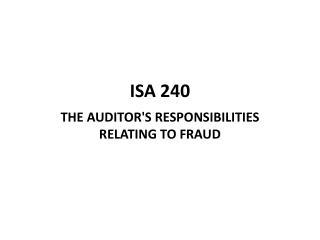 ISA  240