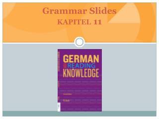 Grammar Slides kapitel 11