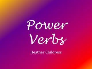 Power Verbs