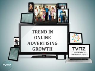 TREND IN ONLINE ADVERTISING GROWTH