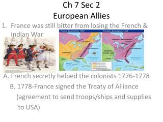 Ch  7 Sec 2 European Allies