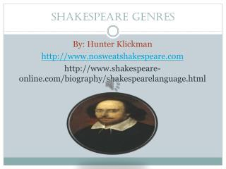 Shakespeare Genres