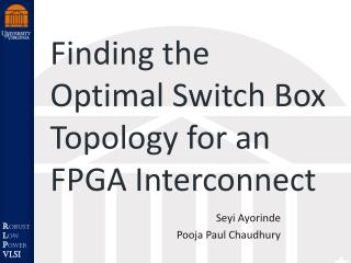 Finding the Optimal Switch Box Topology for an FPGA Interconnect