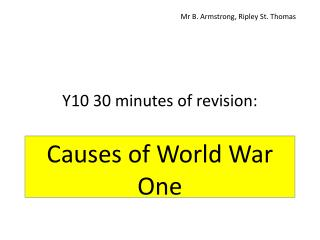 Y10  30 minutes of revision :