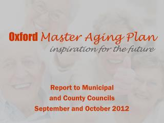 Oxford  Master Aging Plan