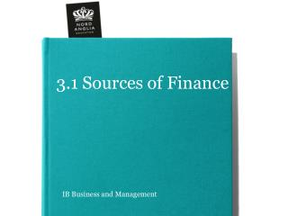 3.1 Sources of Finance