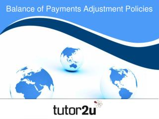 Balance of Payments Adjustment Policies